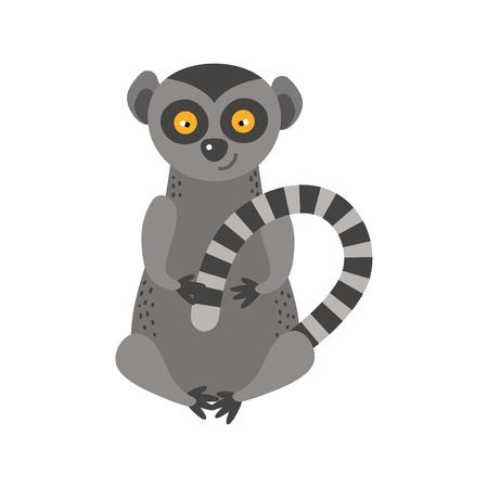 Vettore animale raro di scimmia di Lemur.