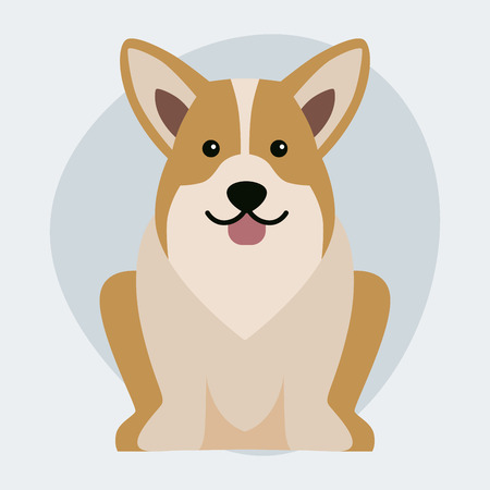 sheepdog: Funny cartoon dog character bread illustration in cartoon style happy puppy and isolated friendly.