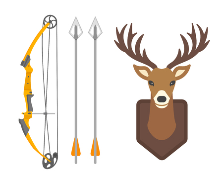 Deer head wild silhouette mammal reindeer wildlife antler graphic and design horned stag drawing sign trophy emblem hunt male vector illustration.