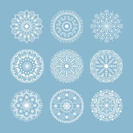 Henna tattoo mehndi flower template doodle ornamental lace decorative element and indian design pattern paisley arabesque mhendi embellishment vector.