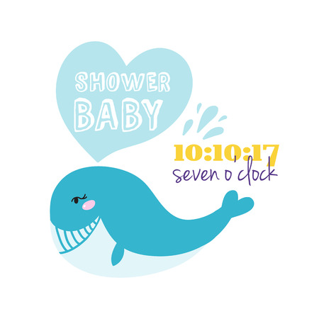 Baby shower badge happy mothers day insignias blue whale sticker stamp icon frame and card design