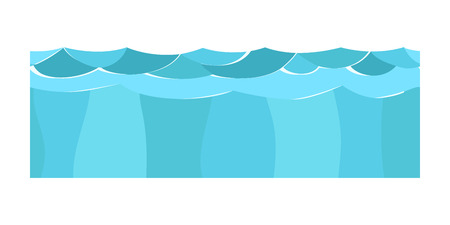 Cross section blue water slice isolated some piece nature outdoor ecology underground and freestanding render garden natural geologist earth vector illustration. Illustration