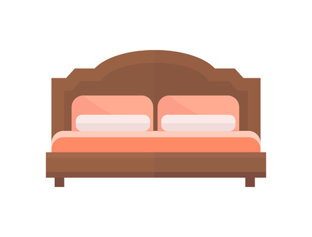 isolate: Exclusive sleeping furniture design bedroom with bed mattress and interior room Illustration