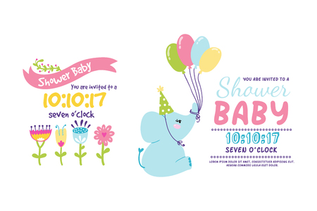 baby: Baby shower badge happy mothers day insignias