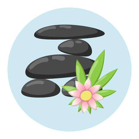 Pyramid from sea pebble relax heap stones isolated and healthy wellness black massage