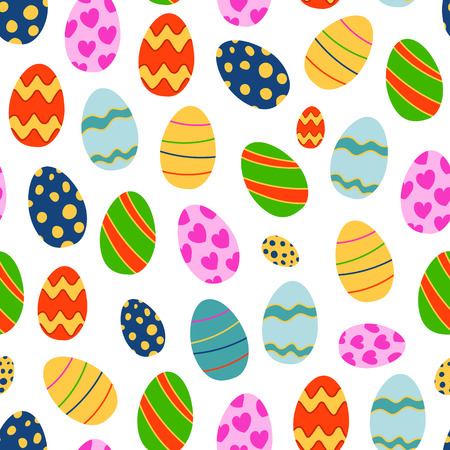 Easter seamless pattern background retro vintage design vector.