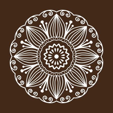 Henna tatouage mehndi flower pattern motif floral décoratif doodle et motif indien paisley paisley mandalas embellissement embellissement vecteur navajo Banque d'images - 75397294