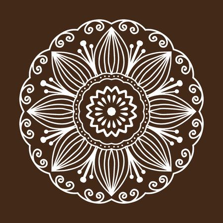 Henna tattoo mehndi bloem sjabloon doodle sier kant decoratief element en Indiase ontwerp patroon Paisley arabesque mhendi verfraaiing vector.