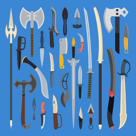 武器のベクトル図をナイフします。