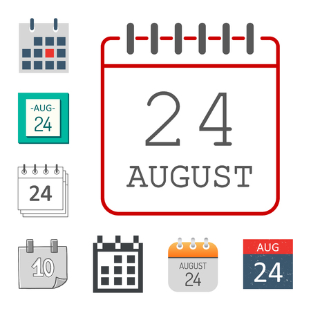 calendar icon: Vector calendar web icons office organizer business graphic paper plan appointment and pictogram reminder element for event meeting or deadline illustration.