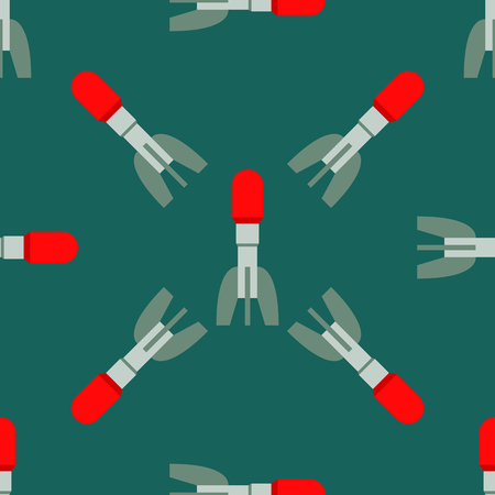 atomic symbol: Missile rocket seamless pattern vector illustration cartoon bomb flat style background threat