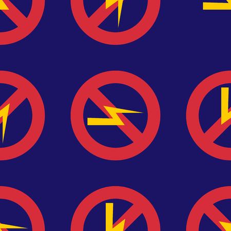 Prohibition sign industry production vector illustration warning danger symbol forbidden. Ilustração