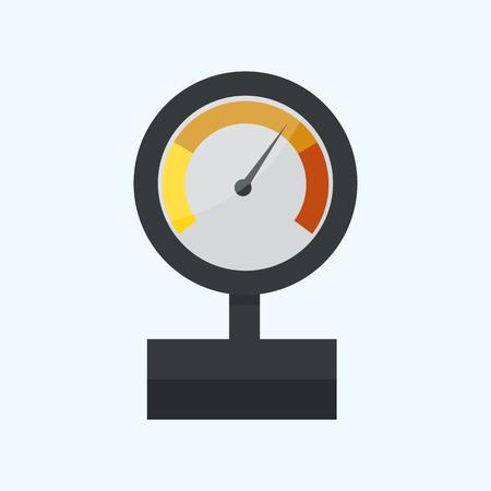 Pressure sensor manometer tool vector icon or pressure sensor on factory pipeline vector illustration.