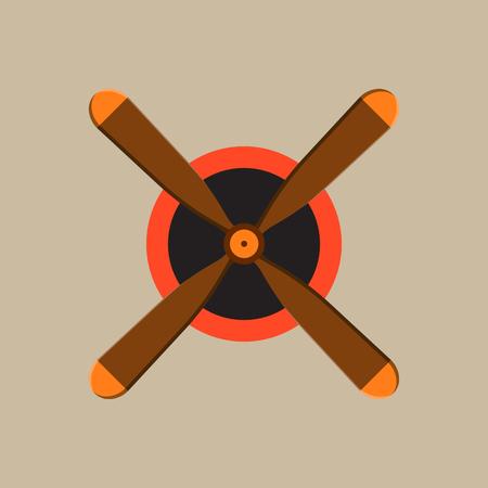 planos electricos: Propeller fan vector wind ventilator equipment air plane blower cooler rotation technology circle.