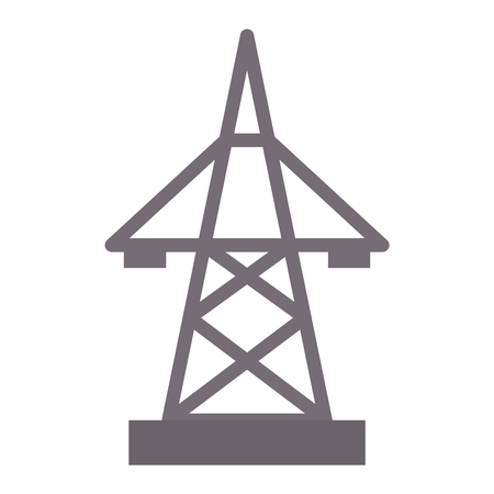 Electric pole icon vector illustration electrical technology voltage energy industrial wire tower.