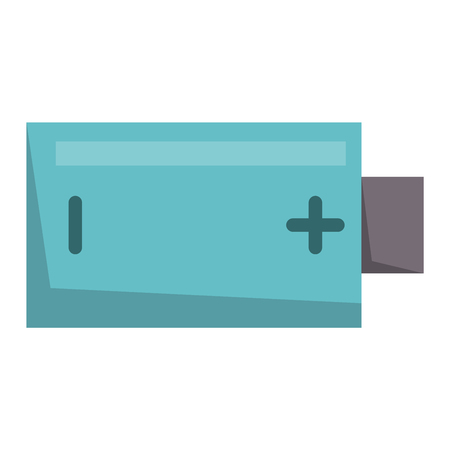 Battery energy tool electricity charge fuel positive supply alkaline technology vector illustration.