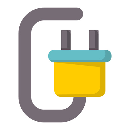 Battery energy tool electricity charger positive supply alkaline technology vector illustration.