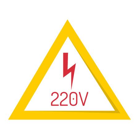 Prohibition sign industry production vector illustration warning danger symbol. Illustration