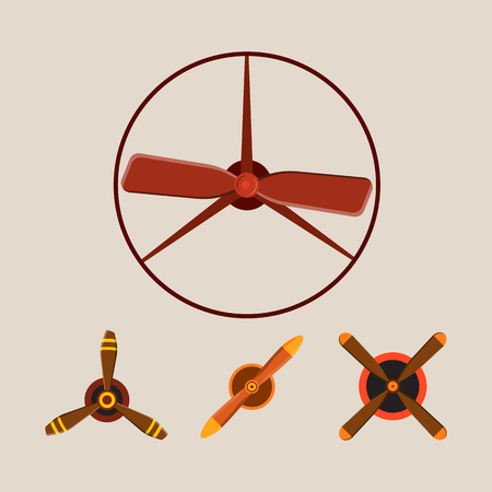 Propeller fan vector wind ventilator equipment air blower cooler rotation technology power circle.