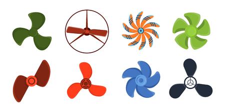 Propeller fan vector wind ventilator equipment air blower cooler rotation technology power circle.