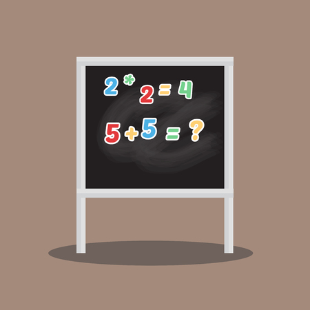 Classroom chalkboard elementary study childhood blackboard vector illustration.
