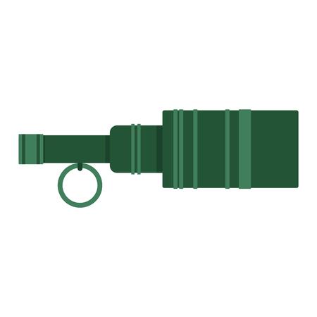shrapnel: Hand grenade bomb explosion weapons vector illustration