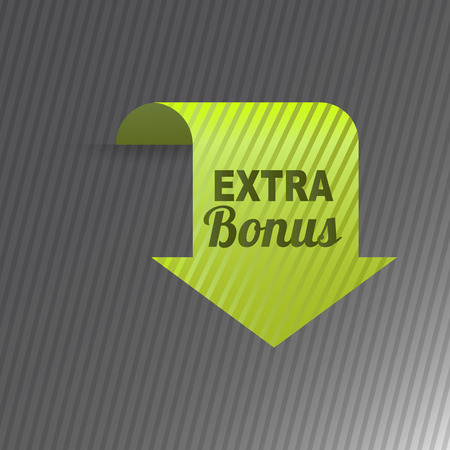 icons site search: Colorful website extra bonus arrow button design vector illustration glossy graphic template banner.