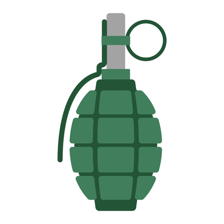 Hand grenade bomb explosion weapons vector illustration