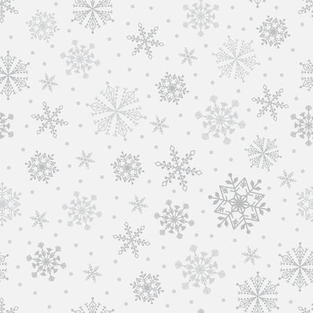 Snowflake vector seamless pattern. Stock Vector - 78509129
