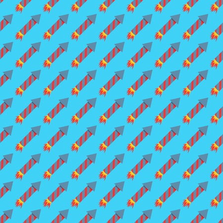 Missile rocket seamless pattern vector illustration cartoon bomb flat style background threat
