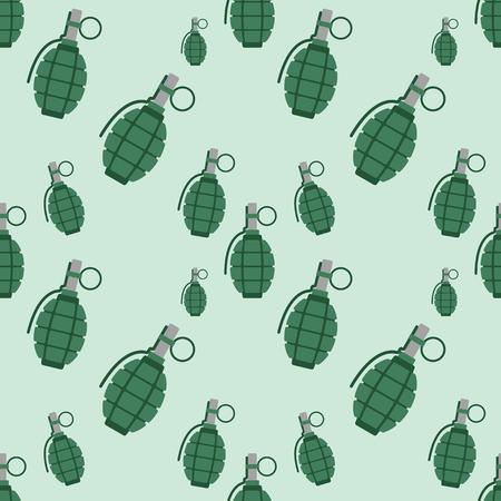 手手榴弾爆弾爆発武器のシームレスなパターン ベクトル図  イラスト・ベクター素材