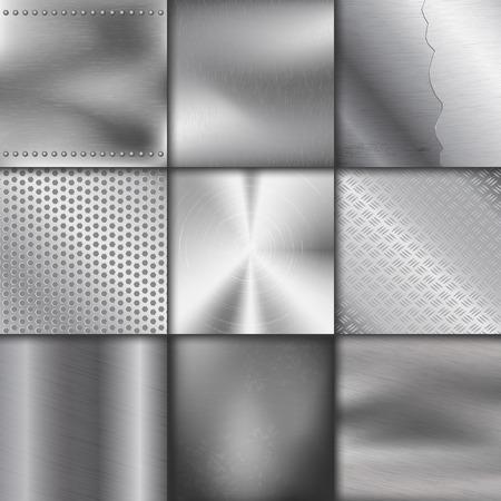 金属のテクスチャ パターン背景ベクトル金属イラスト背景光沢のある効果