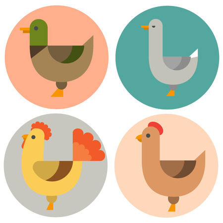 Farm icon vector illustration nature food harvesting grain agriculture different animals characters. Illustration