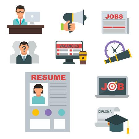 Vector Job-Suche-Symbol Computer Bürokonzept Gesetzt ...