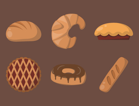 Cookie cakes isolated tasty snack delicious chocolate homemade pastry biscuit vector illustration Stock Vector - 79937212