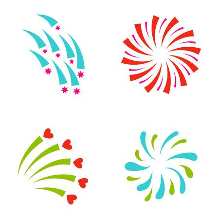 Firework vector illustration celebration holiday event night explosion light festive party