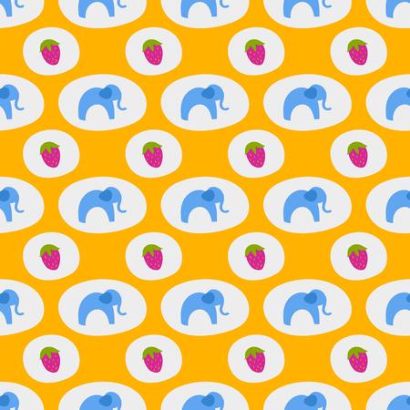 Seamless pattern di elefanti blu sfondo bambini carino animale africano stampa texture Archivio Fotografico - 80041431