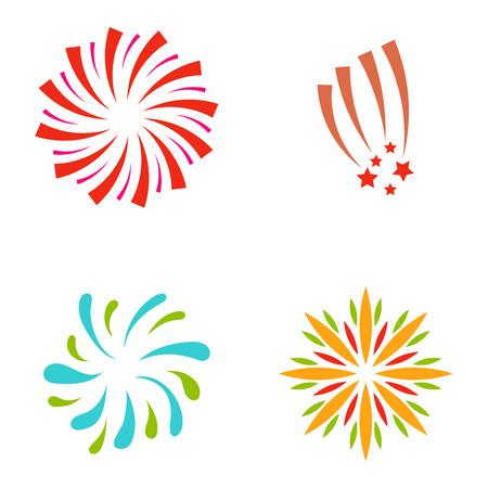 Firework  illustration celebration holiday event night explosion light festive party