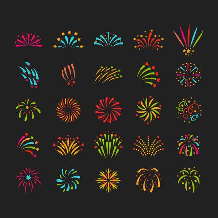 Ilustración vectorial de fuegos artificiales Foto de archivo - 80389815