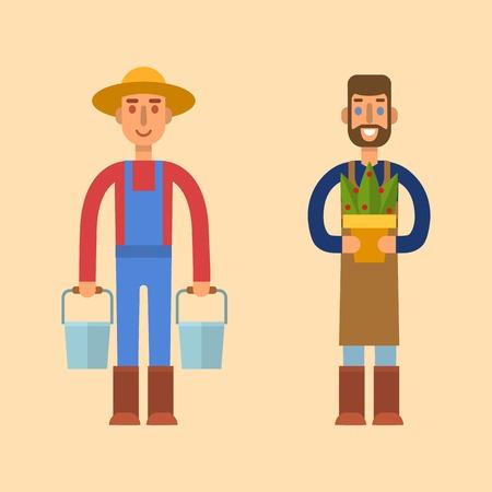 Farmer character Stock Photo