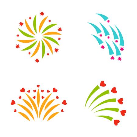 Firework vector illustration Stok Fotoğraf