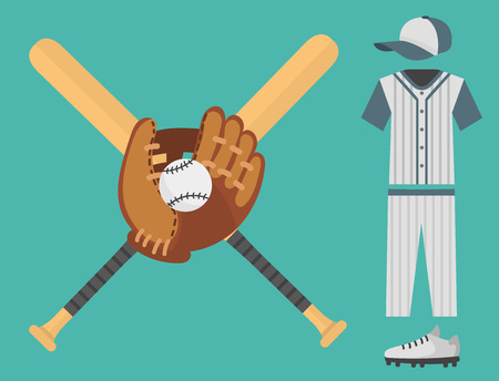 jersey: Cartoon baseball player icons