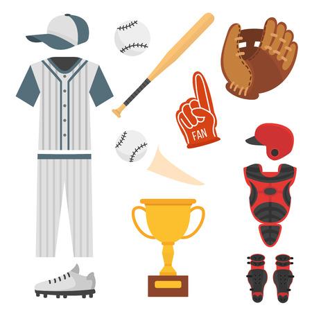 漫画のベクトル デザイン アメリカ ゲーム運動選手スポーツ リーグ機器をバッティング野球プレーヤー アイコン