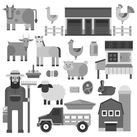 Farmer character man vector illustration