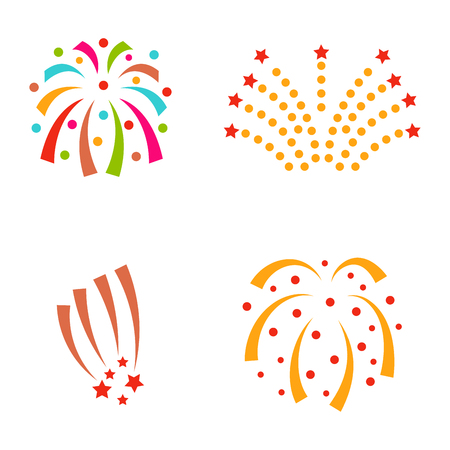 Firework vector illustration Çizim