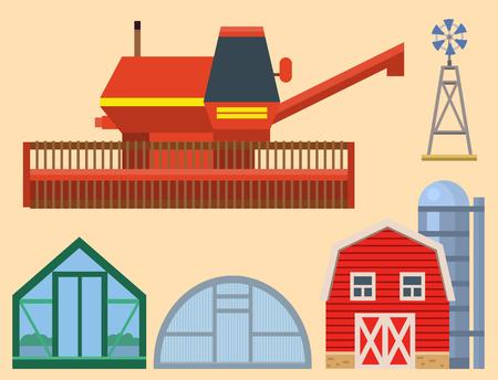 Vector boerderij oogst kas apparatuur landbouw en tuinbouw landbouw handgereedschap