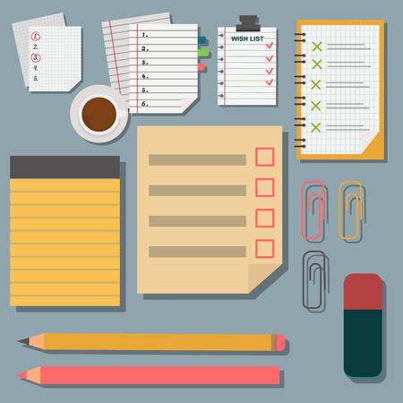 Vector notebook agenda business note plan work reminder planner organizer illustration. Stock Vector - 80644801