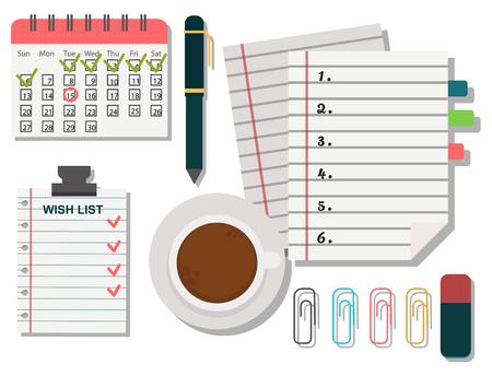 Vector notebook agenda business note plan work reminder planner organizer illustration. Stock Vector - 80644802