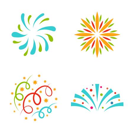 花火ベクトル イラストお祝い休日イベント夜爆発の光お祝いパーティー