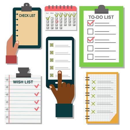 Vector notebook agenda business note plan work reminder planner organizer illustration. Illustration